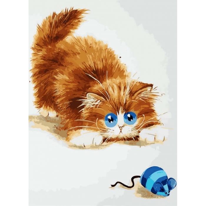 Алмазная вышивка Кошки - мышки LE073 30х40 тм Цветной