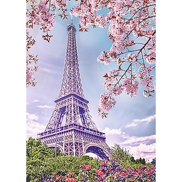 Алмазная мозаика на холсте ГРАННИ арт.Ag542 Весна в Париже 27х38см