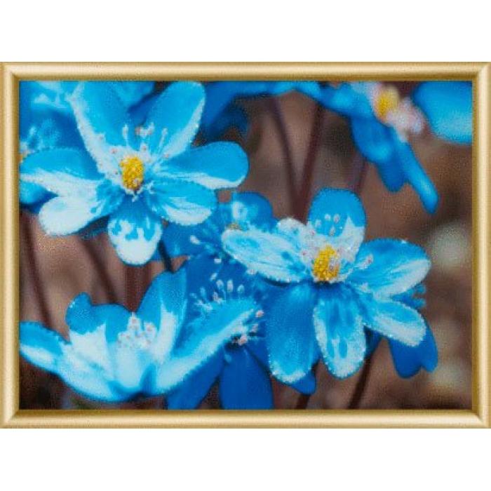 Набор ЧМ арт. КС-179 для изготовления картины со стразами Первоцветы 30,3x42 см