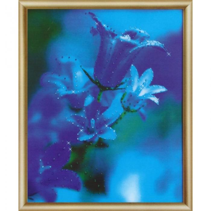 Набор ЧМ арт. КС-165 для изготовления картины со стразами Колоколльчики в саду 24x29,5 см