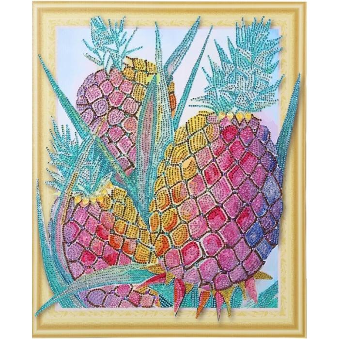 Набор Колор Кит картина алмазная с фигурными стразами арт.КК.FKA002 Алмазное изобилие 40х50