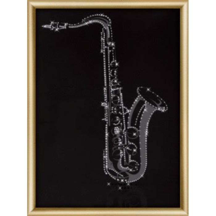 Набор ЧМ арт. КС-182 для изготовления картины со стразами Ночной блюз 30,3x42 см