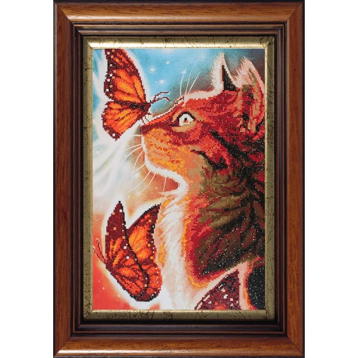 Набор Колор Кит мозаичная картина арт.КК.10013 Кошка с бабочками 40х60