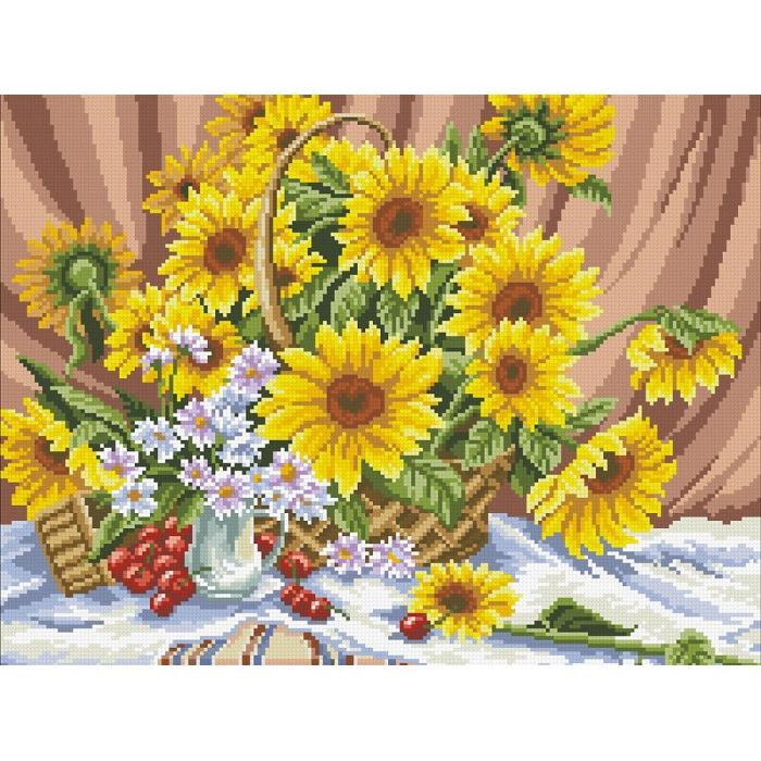 Набор Паутинка для изготовления картины со стразами арт.М216 Щедрые дары 46х36 см