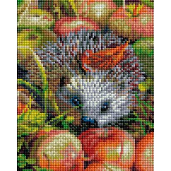 Набор Белоснежка для изготовления картин со стразами арт.БЛ.403-ST-PS Яблочный ежик 20х25 см