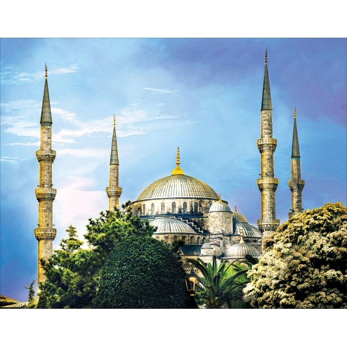 Алмазная вышивка Голубая мечеть LG211 40х50 тм Цветной