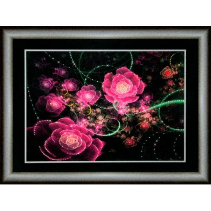 Набор ЧМ арт. КС-103 для изготовления картины со стразами Розовое сияние 30,3x42 см