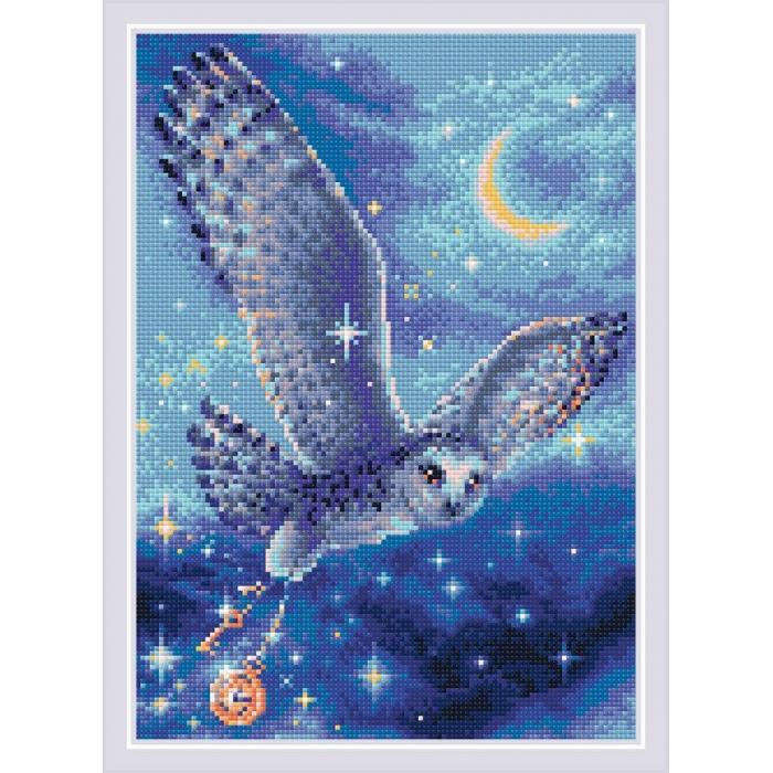 Набор РИОЛИС мозаичная картина арт.AM0041 Волшебная сова 27х38 см