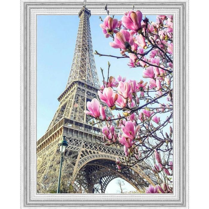 Картина 3D мозаика с нанесенной рамкой Molly арт.KM0644 Весна в Париже 40х50 см