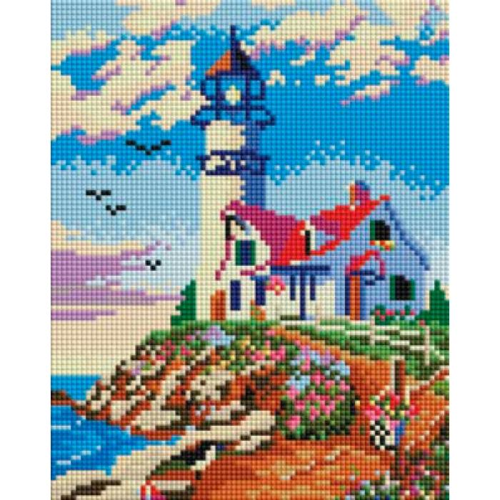 Набор Белоснежка для изготовления картин со стразами арт.БЛ.411-ST-PS Старый маяк 20х25 см