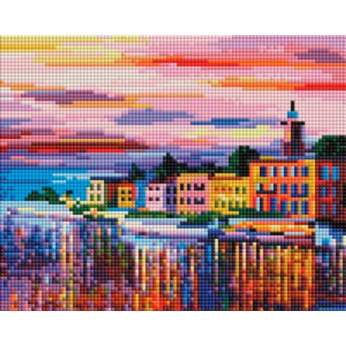 Набор Белоснежка для изготовления картин со стразами арт.БЛ.404-ST-PS Озеро Комо - Белладжио 20х25 см