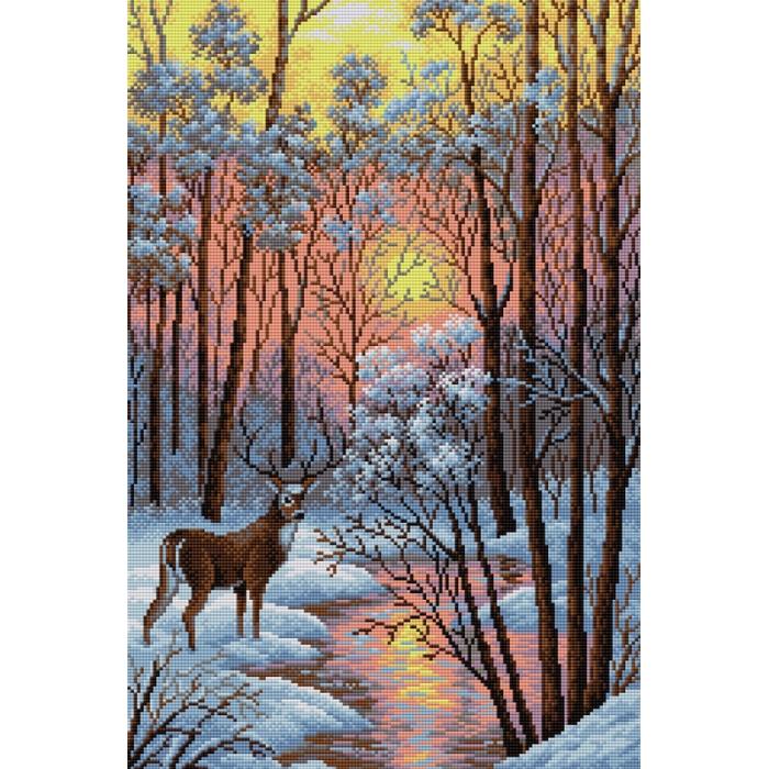 Набор для изготовления картин со стразами Вышиваем бисером арт.ВБ.V-18 В лесу 40х60 см