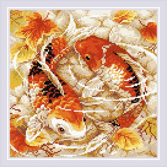 Набор РИОЛИС мозаичная картина арт.АМ0055 Карпы 30х30 см