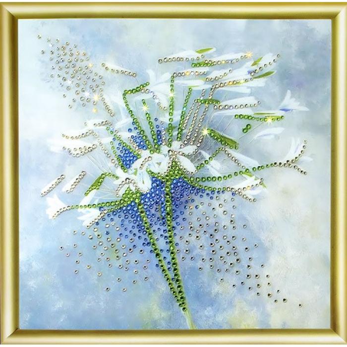 Набор ЧМ арт. КС-029 для изготовления картины со стразами Дуновение ветра 19,8х19,8 см
