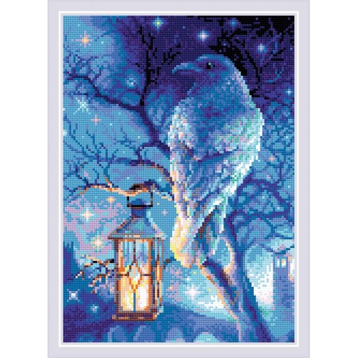 Набор РИОЛИС мозаичная картина арт.AM0043 Мудрый ворон 27х38 см