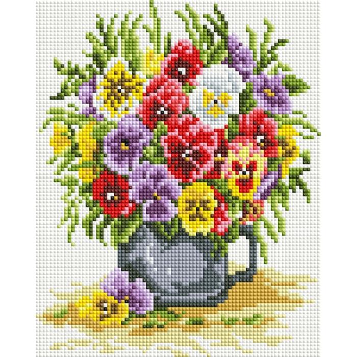 Набор Белоснежка для изготовления картин со стразами арт.БЛ.419-ST-PS Цветочное счастье 20х25 см