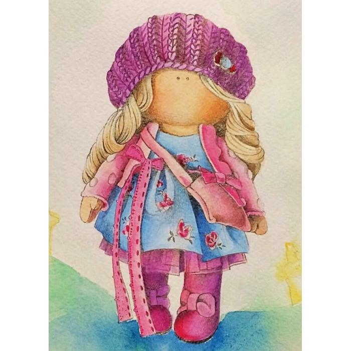 Алмазная вышивка Кукла Нина LE044 30х40 тм Цветной