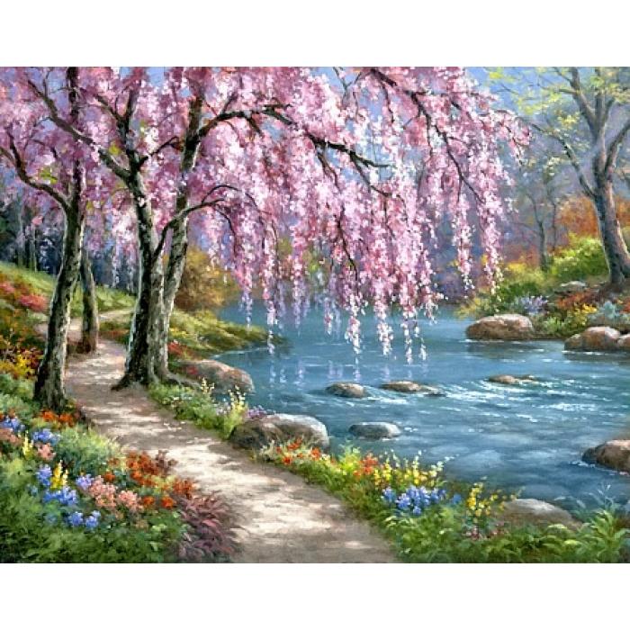 Алмазная мозаика на холсте ГРАННИ арт.Ag1003 Весна 48х38см