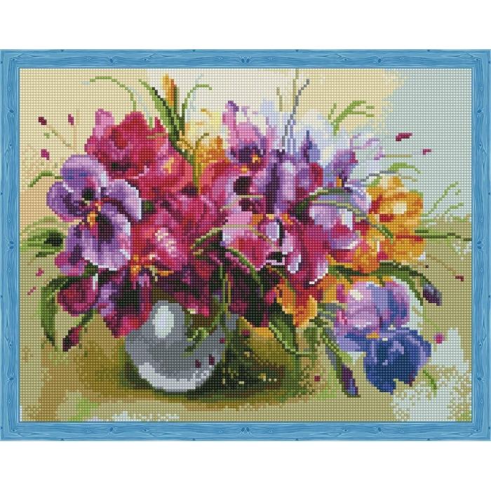 Алмазная вышивка Летние цветы QA201926 40х50 тм Цветной