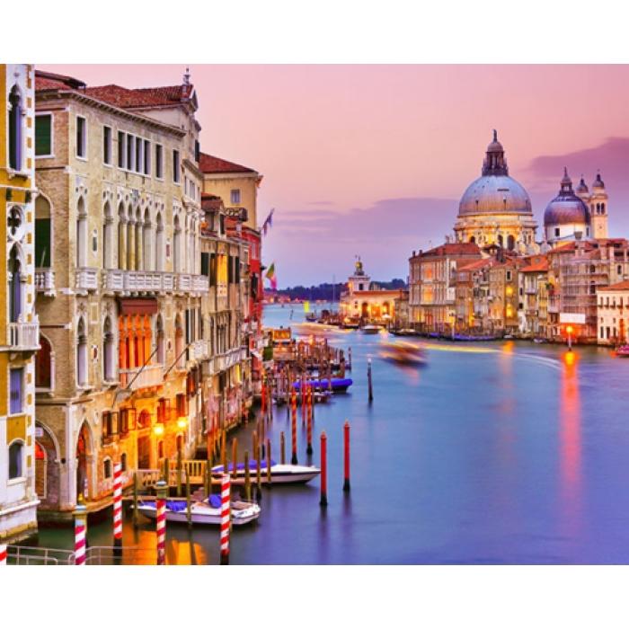 Алмазная вышивка Вид с Венецианского моста LG284 40х50 тм Цветной