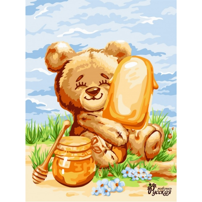 Картины по номерам Русская Живопись ФТ.KA061 Медовое мороженое 30х40 см