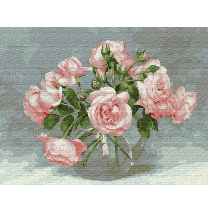 Картина по номерам с цветной схемой на холсте Molly арт.KK0661 Бузин. Розовая симфония (20 цветов) 30х40 см