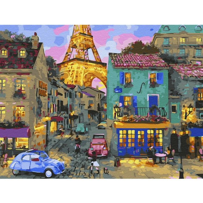 Картина по номерам с цветной схемой на холсте Molly арт.KK0642 Уютный вечер (24 цвета) 30х40 см