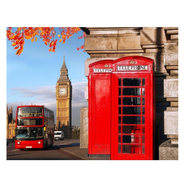Картина по номерам с цветной схемой на холсте Molly арт.KK0640 Улица Лондона (18 цветов) 30х40 см