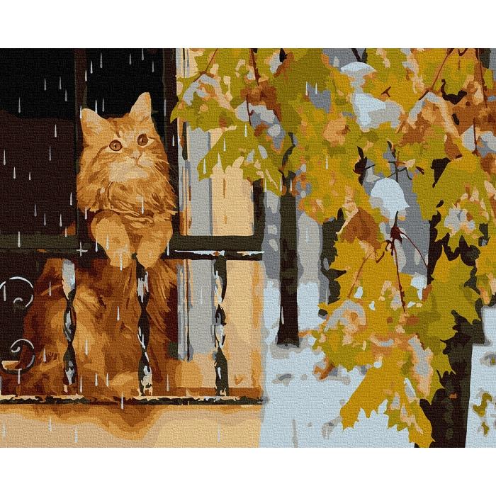 Картина по номерам с цветной схемой на холсте Molly арт.KK0668 Последний день осени 30х40 см