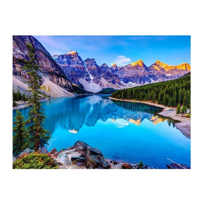 Картина по номерам с цветной схемой на холсте Molly арт.KK0604 Озеро в Канаде (19 цветов) 30х40 см