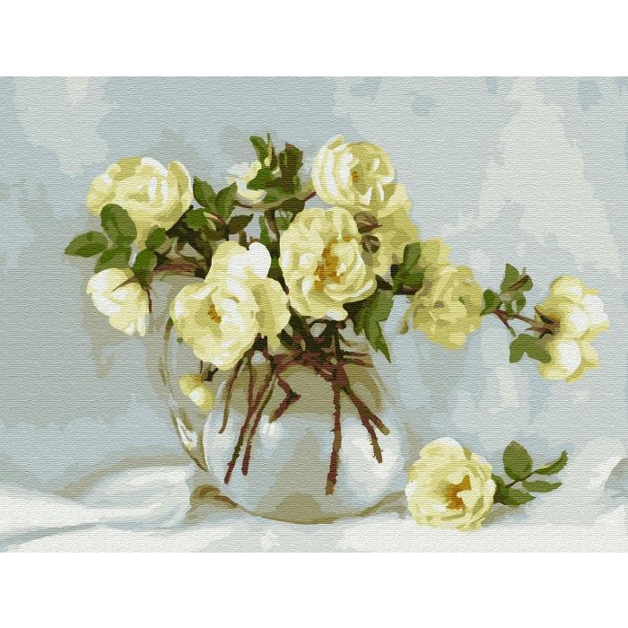 Картина по номерам с цветной схемой на холсте Molly арт.KK0658 Бузин. Майский букет (20 цветов) 30х40 см