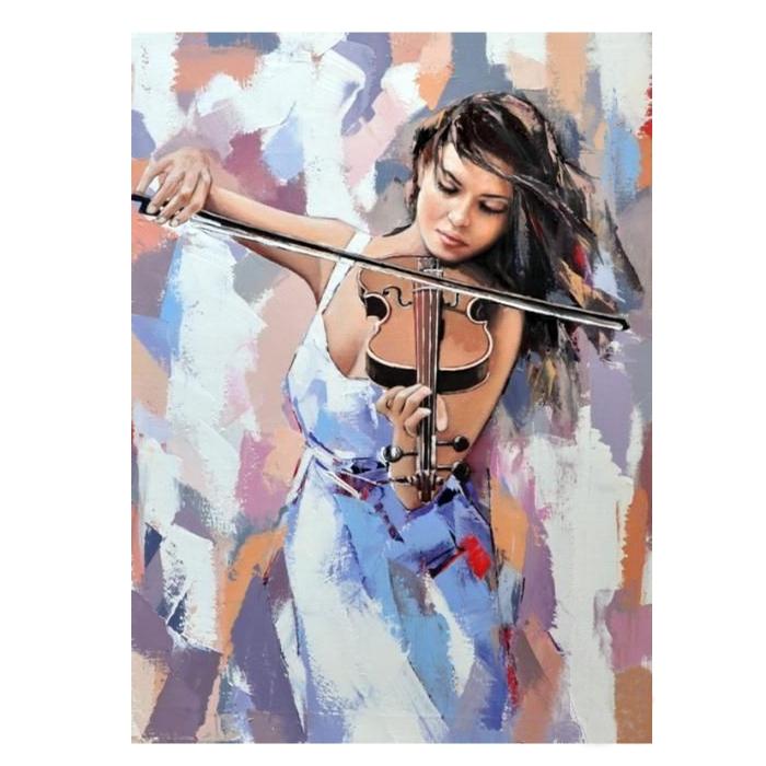 Картина по номерам с цветной схемой на холсте Molly арт.KK0631 Звуки музыки (18 цветов) 30х40 см