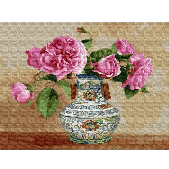 Картина по номерам с цветной схемой на холсте Molly арт.KK0659 Бузин. Настроение (24 цвета) 30х40 см