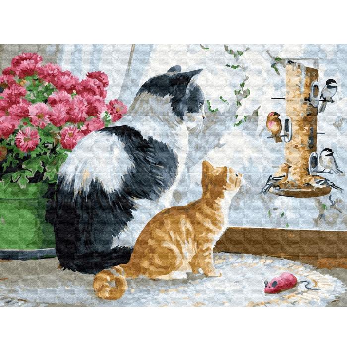 Картина по номерам с цветной схемой на холсте Molly арт.KK0649 Познаем мир (24 цвета) 30х40 см