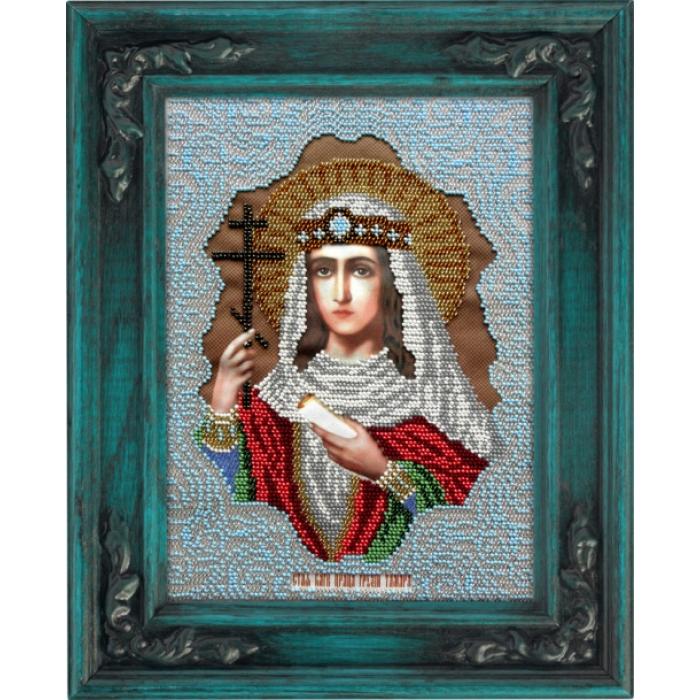 Набор для вышивания бисером ВЫШИВАЕМ БИСЕРОМ арт.L100 Святая Тамара 19х26 см