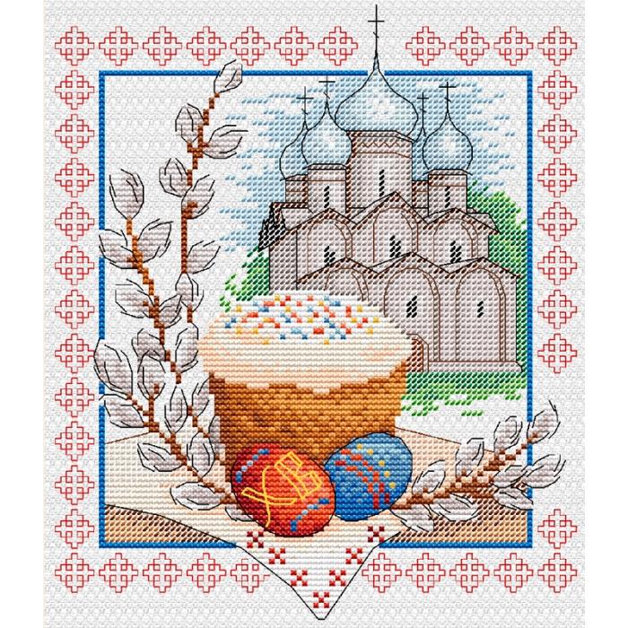 Набор для вышивания ЖАР-ПТИЦА арт.М-057 Пасхальный звон 21х18 см