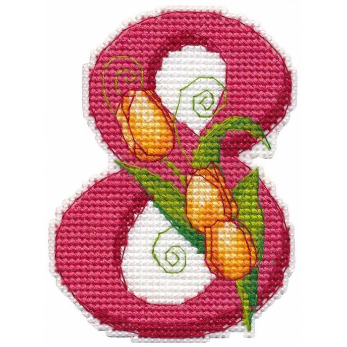 Набор для вышивания ОВЕН арт. 1288 С 8 марта 7х9,5 см