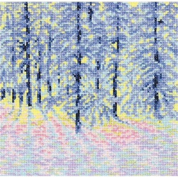 Набор для вышивания РТО арт.C213 Зимнее утро 18х18 см