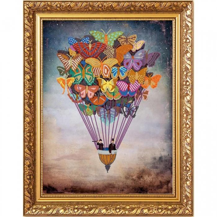 Рисунок на ткани (Бисер) КОНЁК арт. 8407 Воздушные бабочки 29х39 см