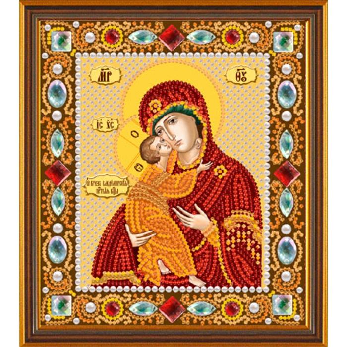 Набор для вышивания бисером НОВА СЛОБОДА арт.Д6002 Богородица Владимирская 13х15 см