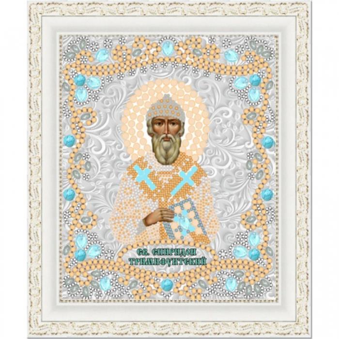 Рисунок на ткани (Бисер) КОНЁК арт. 7126 Спиридон Тримифунтский 15х18 см