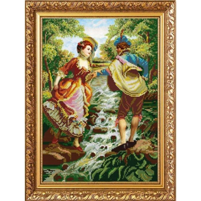 Рисунок на ткани (Бисер) КОНЁК арт. 1232 У ручья 29х39 см