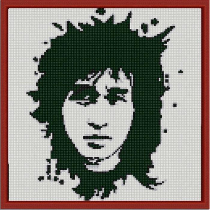 Рисунок на ткани (Бисер) КОНЁК арт. 1222 Виктор Цой 25х25 см