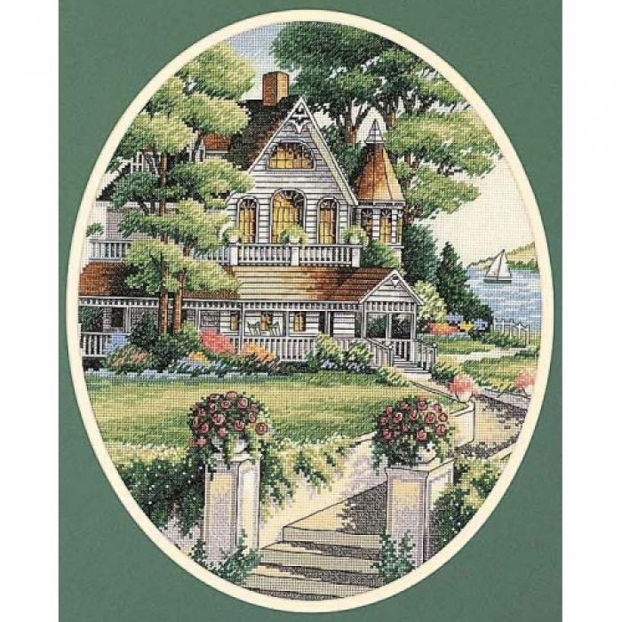 """Набор для вышивания Classic Design арт.4351 """"Викторианский дом"""" 41х28 см"""