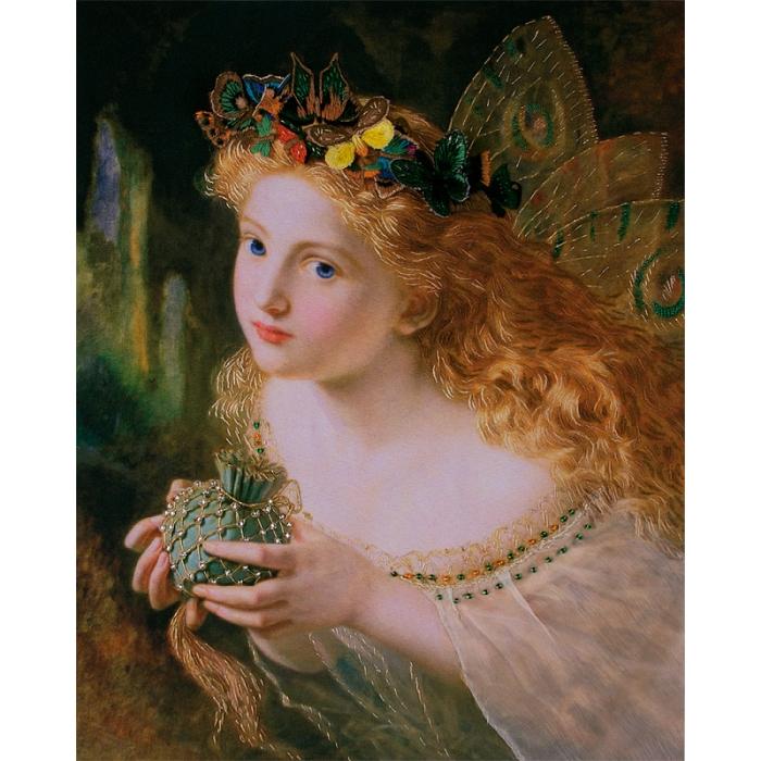 """Набор для вышивания PANNA """"Живая картина"""" арт. JK-2046 Фея с бабочками 27х34 см"""