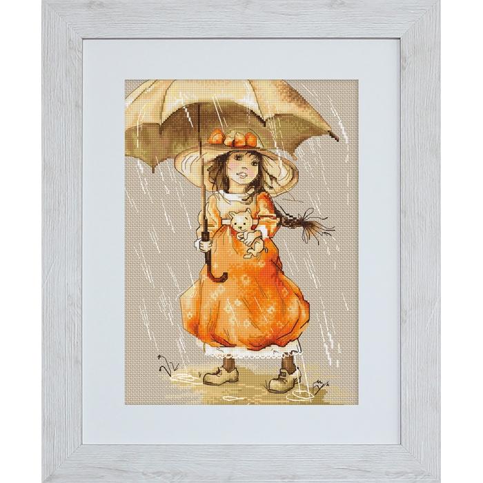 Набор для вышивания LUCA-S арт. B1065 Зонтик 20,5х28,5 см