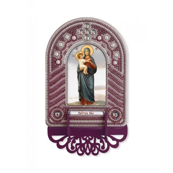 Набор для вышивания бисером НОВА СЛОБОДА арт.ВК1006 Богоматерь 10х13 см
