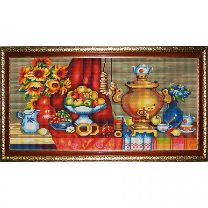 Рисунок на ткани (Бисер) КОНЁК арт. 9958 У самовара 25х45 см