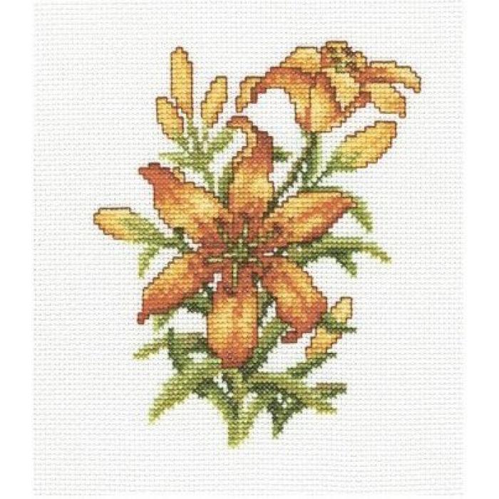Набор для вышивания РТО арт.C186 Лилии 13х17 см