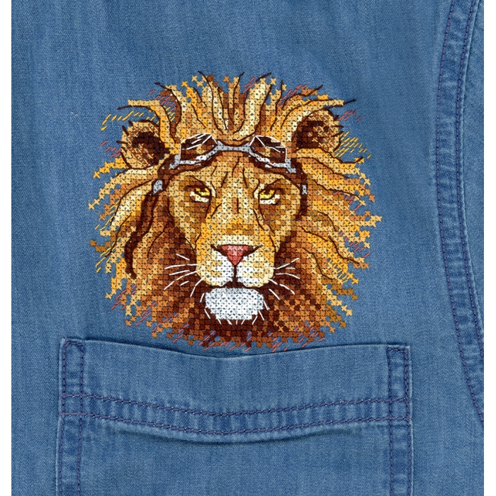 Набор для вышивания ЖАР-ПТИЦА арт.В-258 Царь бездорожья 9,5х9,5 см